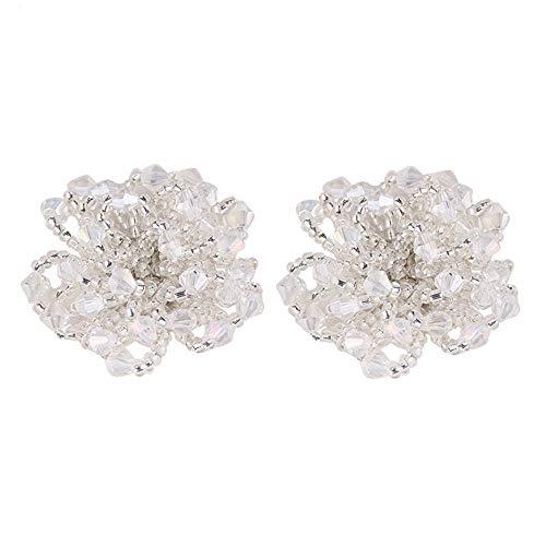 BYHUO Ohrringe Frauen Einfarbig Weiß Floral Styling Schmuck Damen Aussage Ohrringe Weiblichen Charme Ohrringe Schmuck Geschenke