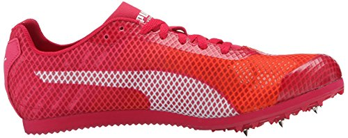 Puma Evo Speed Star V4 Track Cleats Synthétique Baskets Fluo Peach-Rose Red-White