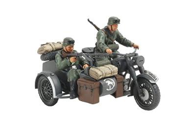 Tamiya 300032578 - 1:48 WWII Deutscher Seitenwagengespann, 2 Figuren von Tamiya
