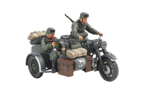 Tamiya 300032578 - 1:48 WWII Deutscher Seitenwagengespann, 2 Figuren