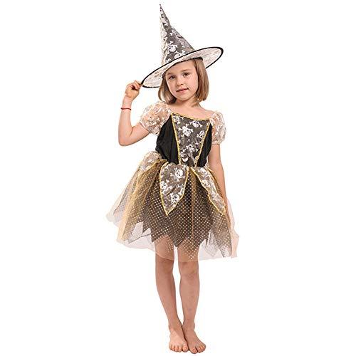 Songyan Magie Casting Nette Hexe-Mädchen-Halloween-Kostüm-Kostüm Rubin Mädchen Kleid der Kinder,XL
