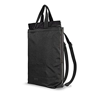Artwizz Eco Sustainable 2-in-1Backpack and Carry Bag 100% Recycled PET AND 22L Side Laptop Pocket for Laptops and MacBook 15inch–Black