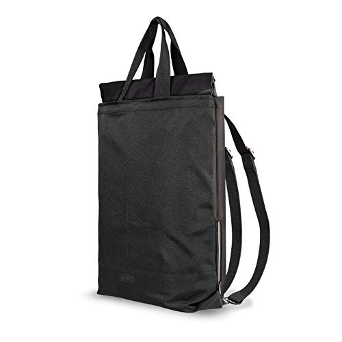 Artwizz Eco Backpack Nachhaltiger 2in1 Rucksack und Trage-Tasche aus 100% recyceltem PET mit 22 Liter - Seitliches Notebook-Fach für Laptop & Macbook bis 15 Zoll - Schwarz - Eco Tasche
