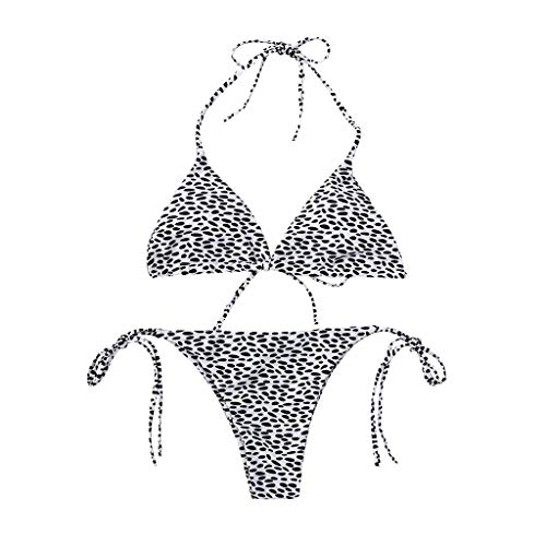 114248423 Luckycat Estampado de Leopardo Bikini Mujer Una Pieza Trajes de Baño  Monokini Sexy Ropa de Playa