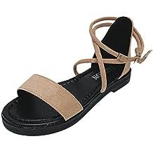 Angelof Sandales Sandales Femmes, Compensees Femmes Plates Chaussure Corde Boheme Escarpin Ouvertes Ete 2018 Chaussures Flip Flop