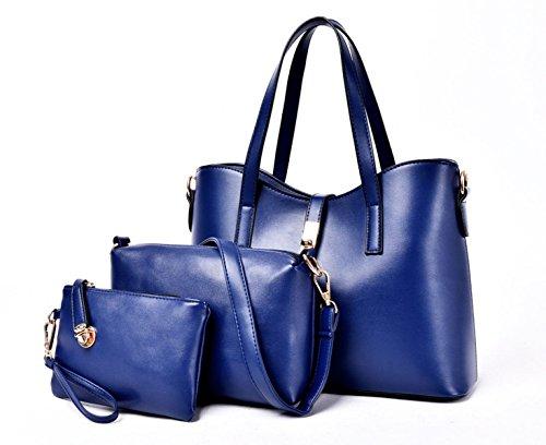 Mme Trois Pièces Grand Sac De Capacité, De Taille 33 * 14 * 22cm blue