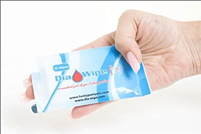 Diabetes finger testing wipes 25 wipes