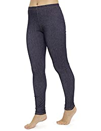 Ladies Stretch Jeggings, Blue 14