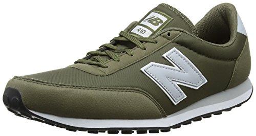 New Balance 410, Baskets Mixte Adulte Vert (Green/grey)