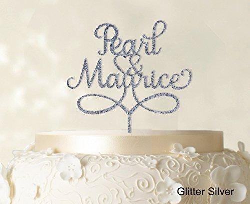 """Personnalisé """"Mr And Mrs"""" Gâteau Topper option élégante Cake personnalisé Topper gâteau décorations de gâteau de couleurs disponibles 6 """"-7"""" pouces de large"""