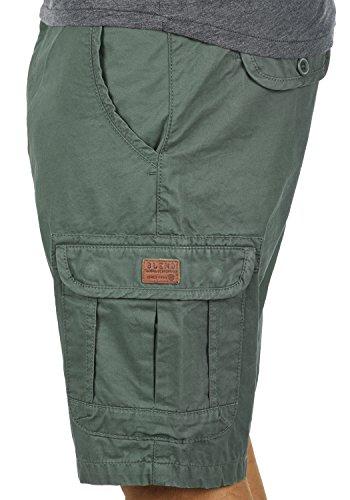 BLEND Crixus Herren Cargo-Shorts kurze Hose mit Taschen aus 100% Baumwolle Balsam Green (77189)