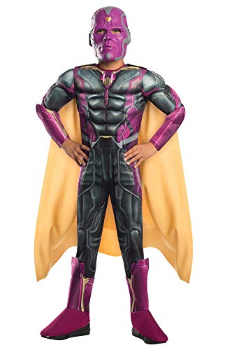 avenger Vision Deluxe Costume, Kids Age Of Ultron Outfit, large, Age ()