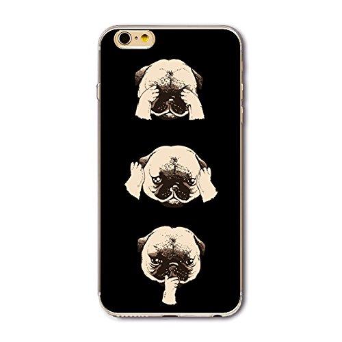 Coque iPhone 5/5S Housse étui-Case Transparent Liquid Crystal en TPU Silicone Clair,Protection Ultra Mince Premium,Coque Prime pour iPhone 5/5S-Géométrique Chiens