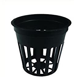 5,5-cm Gitter-Netz-Topf (20, ohne Neoprenring) für Nutriculture Systeme NFT Hydro-Kultur Aero-Ponik Hydro-Ponisch Grow Anzucht-topf Pflanztöpfe für Stecklinge Aero-ponisch mit oder ohne Neoprenring