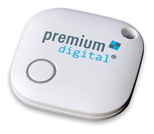 Premium Keyfinder, verlegten Schlüsselbund & Handy sofort finden, für iOS und Android, wasserdicht, weiß