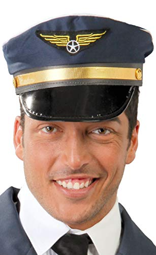 Kids Kostüm Airline Pilot - Fancy Me Damen Herren Erwachsene Airline Pilot Captain Job Beruf Uniform Junggesellinnenabschied Party Kostüm Mütze