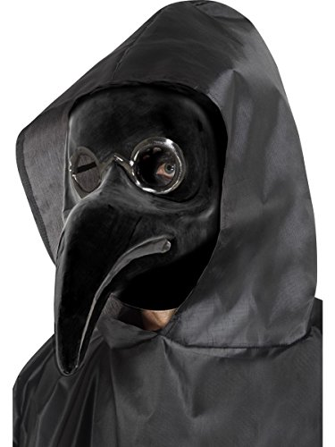 Venezianische Maske Pest Doktor schwarz Venedig Karneval (Venezianische Doktor Kostüm Pest)