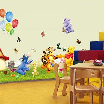 (GOUZI Höhe - cute cartoon Anime Mädchen baby entwickeln hohe Füße, Ballon Winni, Große, herausnehmbare Wand Aufkleber für Schlafzimmer Wohnzimmer Hintergrund Wand Bad Studie Friseur)