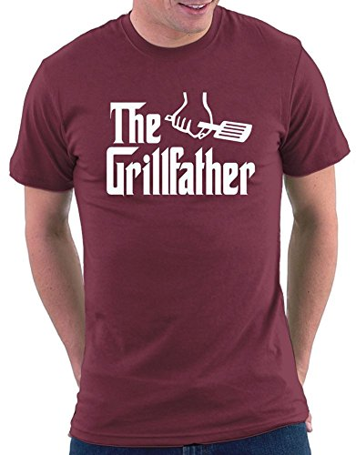 The Grillfather T-shirt Bordeaux