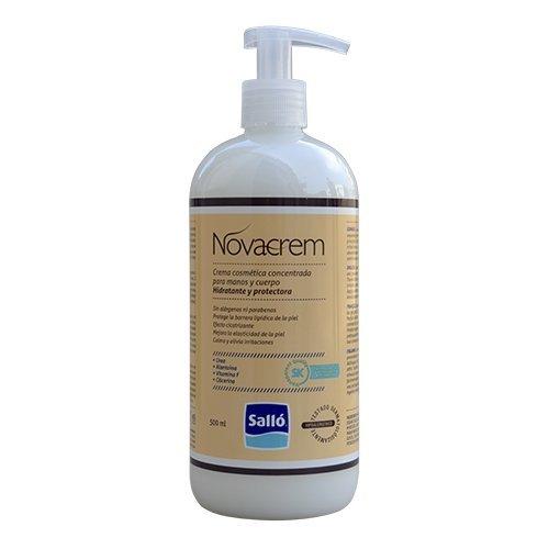 Novacrem: crema hidratante y protectora para cuerpo y manos (500mL) - Sin tacto graso - Evita las grietas - Producto cosmético - Económica