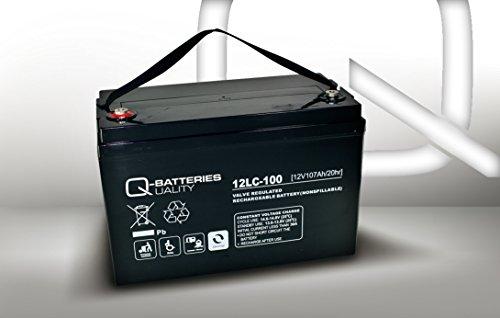 Q-Batteries 12LC-100 / 12V - 107Ah Blei Akku Zyklentyp AGM - Deep Cycle VRLA (Cycle Batterie-deep -)
