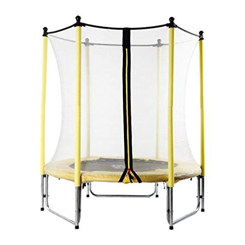 Erhöhen des Leitplanken-Kleinkind-Trampolins, Mit Dem Schutzzaun-springenden Innenkind-Prellenbett-im Freiengarten-Erwachsenen Verlieren Das Gewicht, Das Abnimmt (Color : Yellow) -
