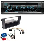 Kenwood KDC-BT530U AUX MP3 Bluetooth USB CD Autoradio für Audi A6 C5 01-05 Symphony Aktivsystem Mini ISO