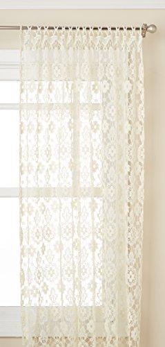Lothringen Home Fashions 00106–24–00001Medaillon Tailored Fenster Vorhang Kontingent, natur, Panel 58