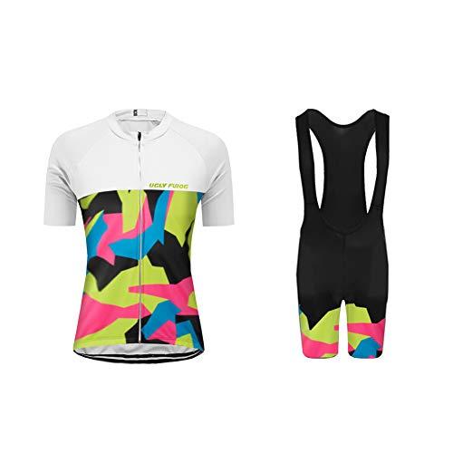 Uglyfrog Abbigliamento Ciclismo Set Pantalone a Manica Corta Donna a Manica Corta di Bicicletta DXWX02F