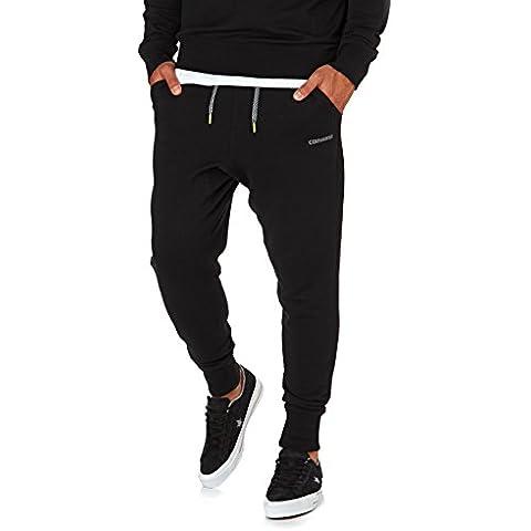 Converse Pantalón de chándal para hombre negro impresión de Converse reflectante 10002802