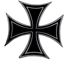 Pin insignia Cruz de Malta negra