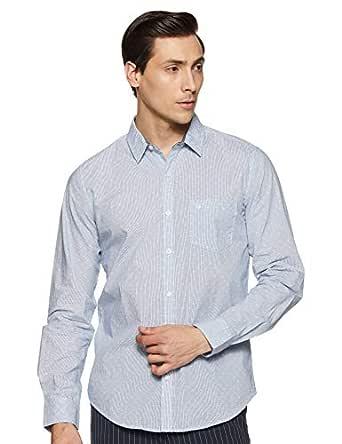 United Colors of Benetton Men's Printed Slim fit Casual Shirt (19P5EC02U008I_904_Blue S)