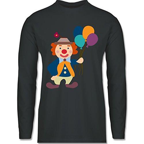 Shirtracer Karneval & Fasching - Clown Luftballons - Herren Langarmshirt Dunkelgrau
