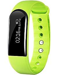 ID101HR Sport Intelligent Montre à Bracelet Bluetooth Fréquence Cardiaque/Podomètre/positionnement/Distance/ Calories/Moniteur de sommeil pour IOS et Android (vert)