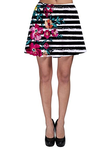 Cowcow-Womens-morado-Hawaii-Skater-Falda-Pink-Hawaii-Stripe-M