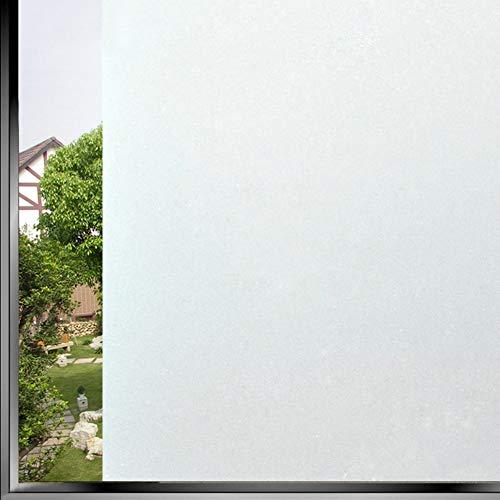 CCSUN Datenschutz-Fenster-Folie, Statisch Klammern Sichtschutzfolie Folie Non-verdunkelungsfolie Dekorative Blickdicht Für Zuhause Badezimmer Office Wohnzimmer-weiß 40x300cm(16x118inch) - Vinyl Weiss Jalousie