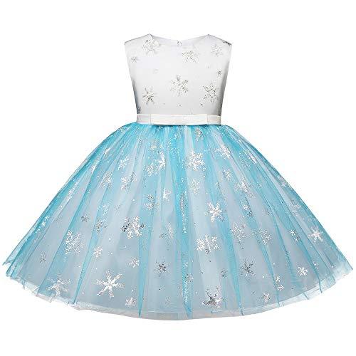 Babykleider,Sannysis Baby Mädchen Festlich Kleid Kinder ärmelloses Schneeflocke Pailletten Druck Mesh Prinzessin Kleid Weihnachten Kleidung