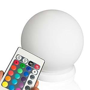 minify rgb led ball 50cm kugel mit fernbedienung akku. Black Bedroom Furniture Sets. Home Design Ideas