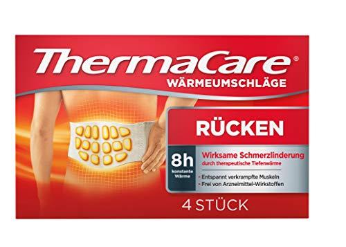 ThermaCare Wärmeumschläge - Wärmeauflagen unterer Rücken zur Linderung von Rückenschmerzen - Tiefenwärme zum Entspannen und Lockern der Muskeln - Größe S-XL - 4 Stück pro Packung