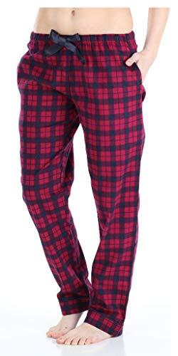 PajamaMania Pantalones Pijama Franela algodón Mujer
