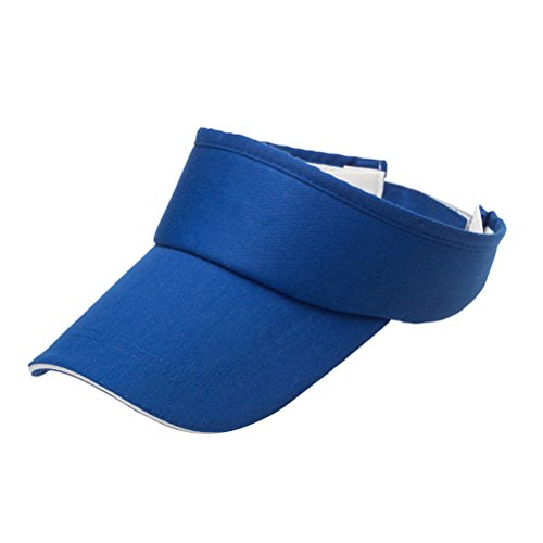 VORCOOL Unisex Einstellbare Sun Sport Visier Cap Golf Cap Tennis Visier Hut UV Schutz für Radfahren Angeln Laufen Jogging (Blau) (Visier Radfahren)