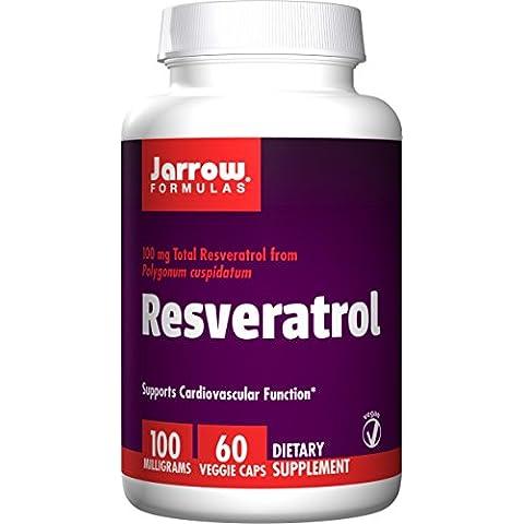Jarrow Formulas Resveratrol, Supports Cardiovascular Function, 100mg, 60 Veggie Caps