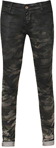 Zhrill Damen Jeans Hose Blake Camouflage Dirty