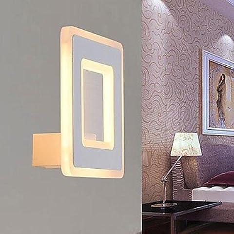 FEI&S Camera da letto luce da parete nichel spazzolato in vetro smerigliato maschera Lampada di cortesia #15
