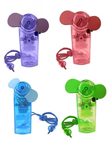 Ventilator Mini in 4 Farben Handventilator Miniventilator Hand Ventilator Umhängeband Lüfter (Rot)