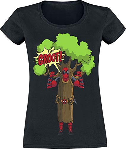 Deadpool I'm Groot T-Shirt schwarz XL