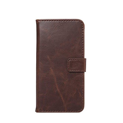 Pour iPhone 7, Crazy Horse Texture Faux Leather Wallet Pouch Case JING ( Color : Wine ) Wine