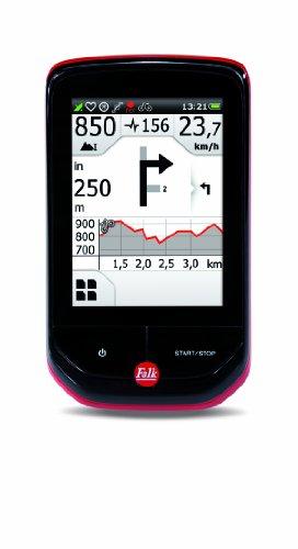 Falk Outdoor GPS Radcomputer PANTERA 32+ mit topografischer Kartennavigation (EU 19), ANT+, inkl. Sensorenpaket, schwarz/rot