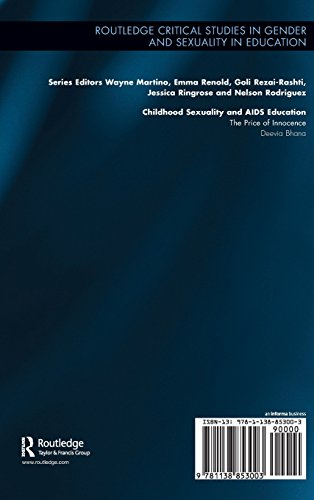 Childhood Sexuality and AIDS Education: The Price of Innocence (Routledge Critical Studies in Gender and Sexuality in Education)