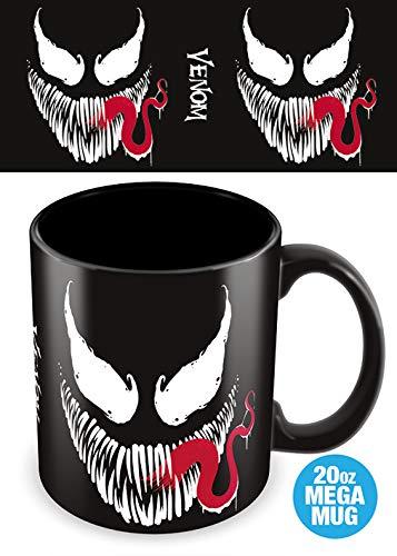 Marvel Comics MMG25083 Venom (cara) - Taza, multicolor